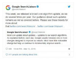 【重要】3月12日谷歌更新了广泛的核心搜索算法