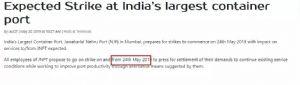 2天后,印度最大港口将罢工!谨防货物滞留,买家不付款!