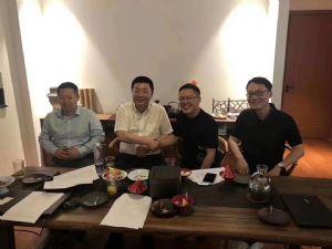 思亿欧董事长何旭明会见分众传媒董事局主席江南春
